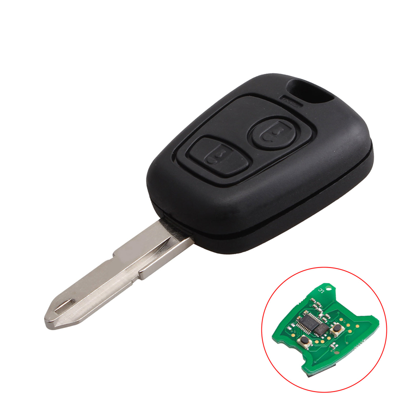 Peugeot 2 Button Remote Key Fob with Logo – 433MHZ with ID46 Chip ...
