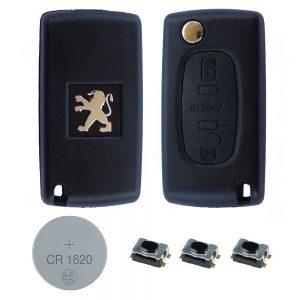 Peugeot-3-Button-DIY-REPAIR-KIT-LOGO